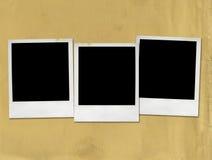 Polaroides en blanco Imagenes de archivo
