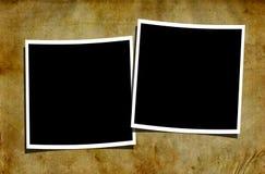 Polaroides en blanco en fondo sucio Fotografía de archivo libre de regalías