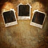Polaroidrahmen auf Schmutz Stockfotografie