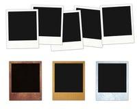 Polaroidfelder eingestellt Stockbild