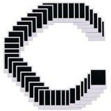 Polaroidfilm deckt Zeichen C ab Stockbild