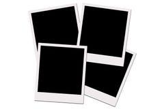 Polaroidfilme (mit Ausschnittspfad) Stockfotos