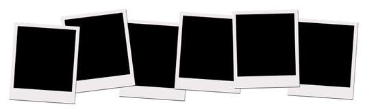 Polaroidfilme (mit Ausschnittspfad) Lizenzfreies Stockfoto