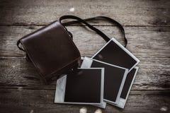 Polaroidfilmkamera der Weinlese Lizenzfreie Stockfotos