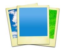 Polaroidfotos (Ausschnittspfade eingeschlossen worden) Lizenzfreies Stockfoto