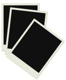 Polaroidfotos im alten Papier Lizenzfreie Stockfotografie