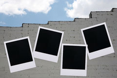 Polaroidgebäudewand lizenzfreie stockfotos