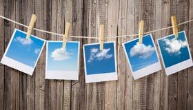 Polaroidkameror Fotografering för Bildbyråer