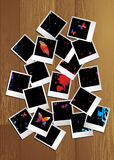 Polaroidpuzzlespielnatur Lizenzfreies Stockbild