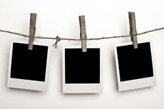 polaroids τρία Στοκ Εικόνες