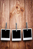 polaroids τρία στοκ εικόνα με δικαίωμα ελεύθερης χρήσης