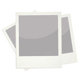 Polaroids. Scanned polaroids isolated on white background Royalty Free Stock Image