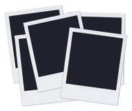 Polaroids - 5 empilhados Foto de Stock
