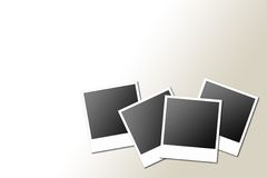 Polaroids. 4 polaroids in a gradient light brown/White background vector illustration