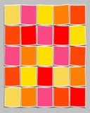 Polaroids in bianco Colourful illustrazione vettoriale