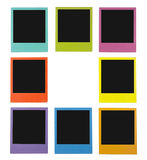 Polaroids da cor Foto de Stock