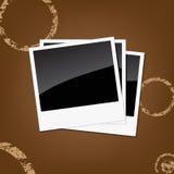 Polaroids do vetor Fotos de Stock