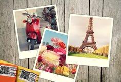 Polaroids från semester Arkivbilder