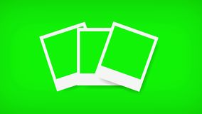 Polaroids frames with green screen for your photo. 4K