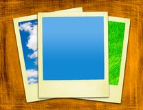 Polaroids gialli invecchiati Immagini Stock