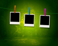 Free Polaroids Hanging On A Clothes Line Stock Images - 11523334