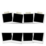 Polaroids layed out Royalty Free Stock Photography