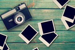 Polaroids. Photo instant old moment texture paper Royalty Free Stock Images
