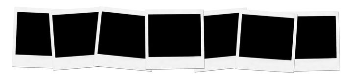 polaroids tre arkivfoton