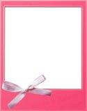 polaroidu różowy szablon Obrazy Stock