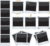 polaroidy ustawiający Zdjęcie Stock
