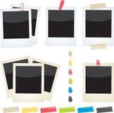 polaroidy ustawiający Zdjęcia Stock