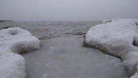 Polars frozen ocean in the fog stock video