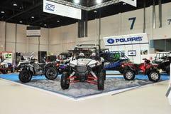 Polarstern-Wüsten-Fahrzeuge an Abu Dhabi International Hunting und an der Reiterausstellung (ADIHEX) Lizenzfreies Stockbild