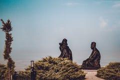 Polatli Duatepe Monument for the Memory of the Turkish War of In. ANKARA, TURKEY, OCT 20, 2018: Polatli Duatepe monument for the memory of the Turkish War of royalty free stock image
