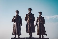 Polatli Duatepe Monument for the Memory of the Turkish War of In. Dependence stock photo