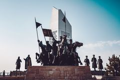 Polatli Duatepe Monument for the Memory of the Turkish War of In. Dependence stock images