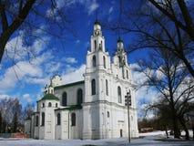 Polatsk Sophia Cathedral in primavera Fotografia Stock Libera da Diritti