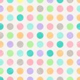 Polca abstrata Dots Circles Pattern Background With Fabr do vintage ilustração do vetor