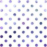 Polca azul roxa Dot Pattern Digital Paper foto de stock royalty free