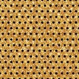 Polca brillante Dot Seamless Pattern del oro Fotografía de archivo