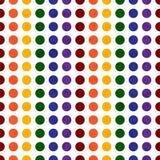 Polca coloreada arco iris Dot Textured Fabric Background stock de ilustración