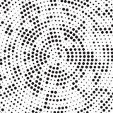 Polca de giro Dots Background Pattern Texture del lío de la parte radial blanco y negro retra de semitono libre illustration