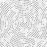 Polca de giro Dots Background Pattern Texture del lío de la parte radial blanco y negro retra de semitono ilustración del vector