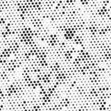 Polca de semitono blanco y negro retra Dots Mess Background Pattern Texture del Grunge libre illustration