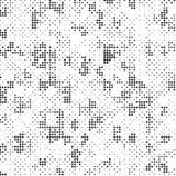 Polca de semitono blanco y negro retra Dots Mess Background Pattern Texture del Grunge ilustración del vector