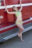 Polca Dot Bikini Foto de archivo libre de regalías