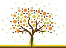 Polca Dot Tree Imagem de Stock Royalty Free