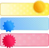 Polca Dot Web Banners Imagem de Stock Royalty Free