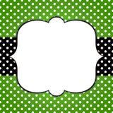 Polca Dots Banner Grunge Frame Foto de archivo libre de regalías
