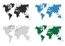 Polca Dots Dotted Pattern World Map Stock de ilustración